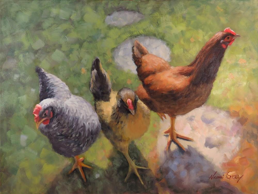 """Three Sisters"" original fine art by Naomi Gray"
