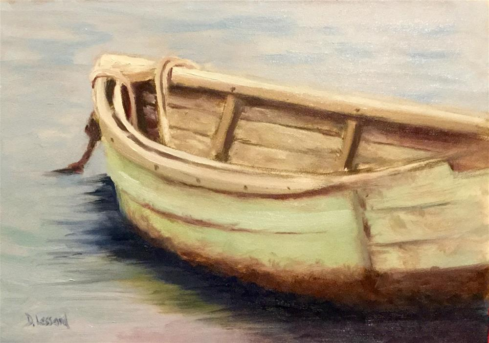 """Dinghy #1602"" original fine art by Dee Lessard"