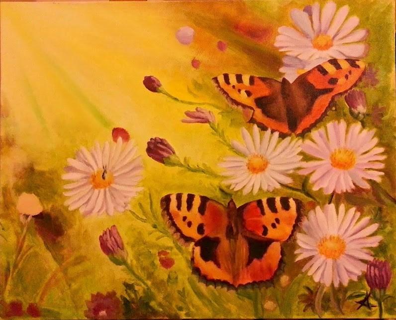 """Butterfly light"" original fine art by Konstantia Karletsa"