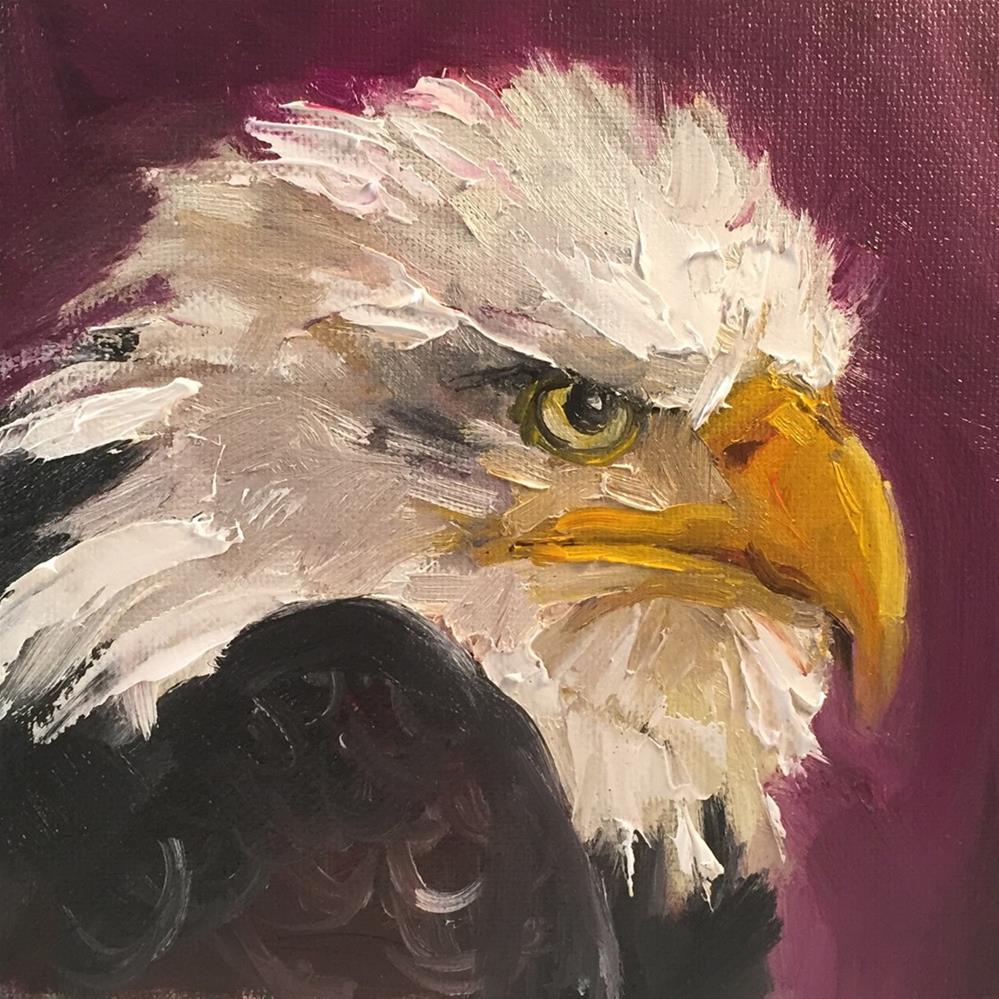 """""""I've Landed"""" original fine art by Marcia Hodges"""