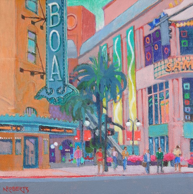 """Balboa Theater, San Diego"" original fine art by Nancy Roberts"
