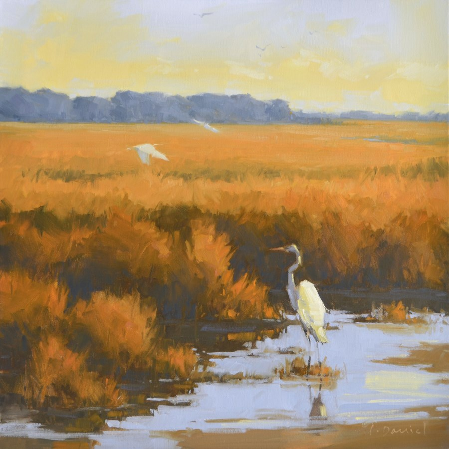 """Marsh Birds - Show Tip #27"" original fine art by Laurel Daniel"