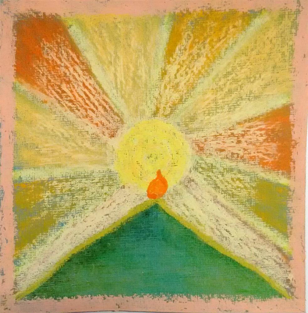"""""""Explosion of Light"""" original fine art by Adéla Svobodová"""