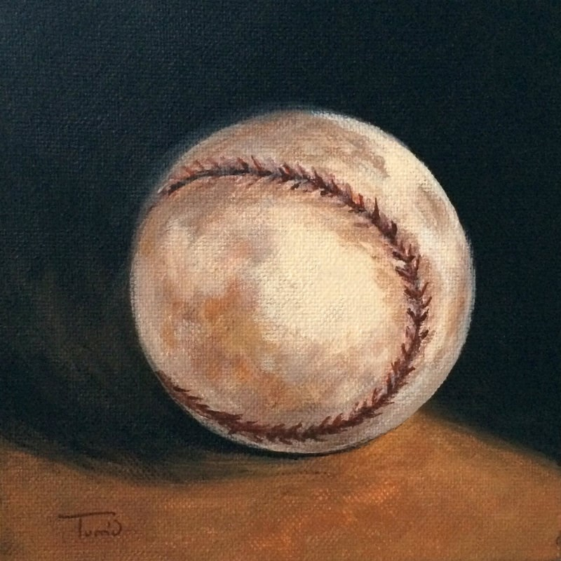 """Baseball III"" original fine art by Torrie Smiley"