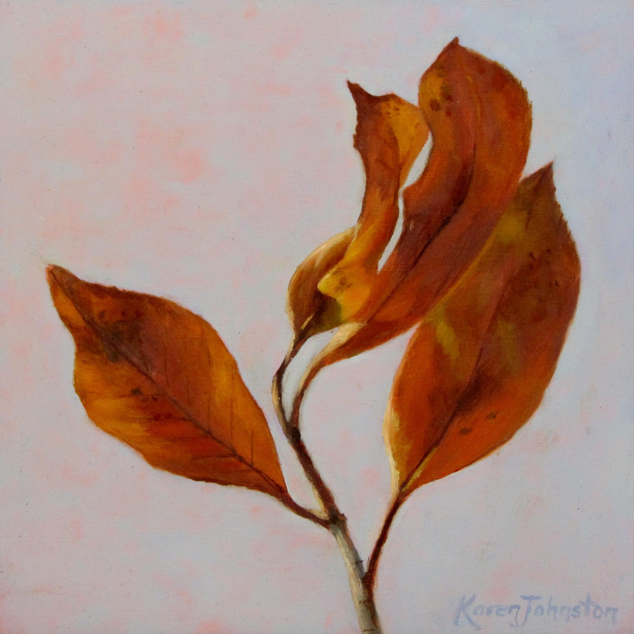 """Autumn Remnant"" original fine art by Karen Johnston"