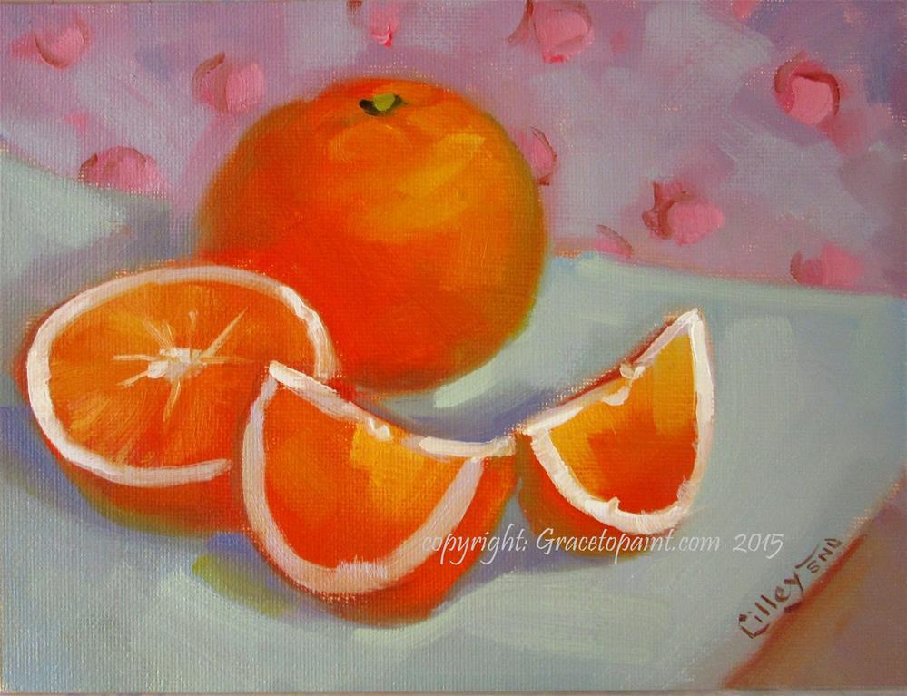 """""""Oranges"""" original fine art by Maresa Lilley"""