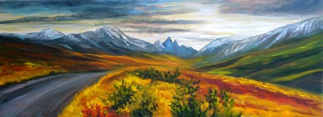 """Road to Tombstone Mountains"" original fine art by Jackie Irvine"