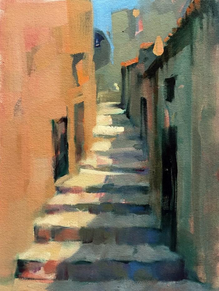 """""""Steps in Pruno"""" original fine art by Trisha Adams"""