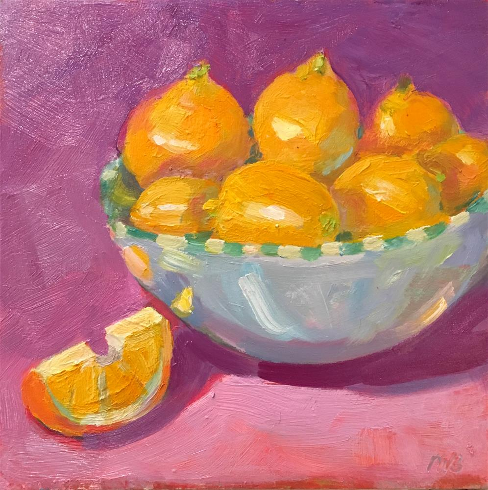 """Lemons in a bOwl"" original fine art by Marcia Bergtholdt"