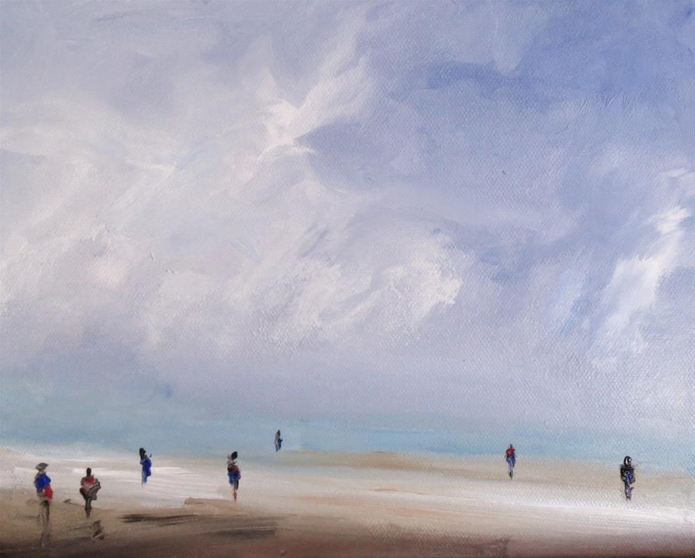"""Ocean breeze (windy day)"" original fine art by Astrid Buchhammer"