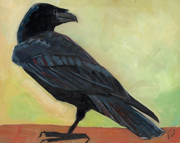 """Raven Reserved"" original fine art by Elizabeth See"