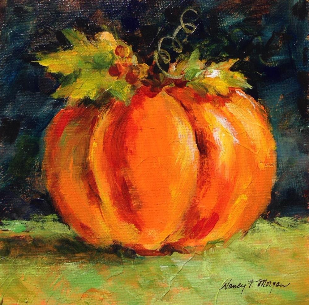 """Pumpkin"" original fine art by Nancy F. Morgan"