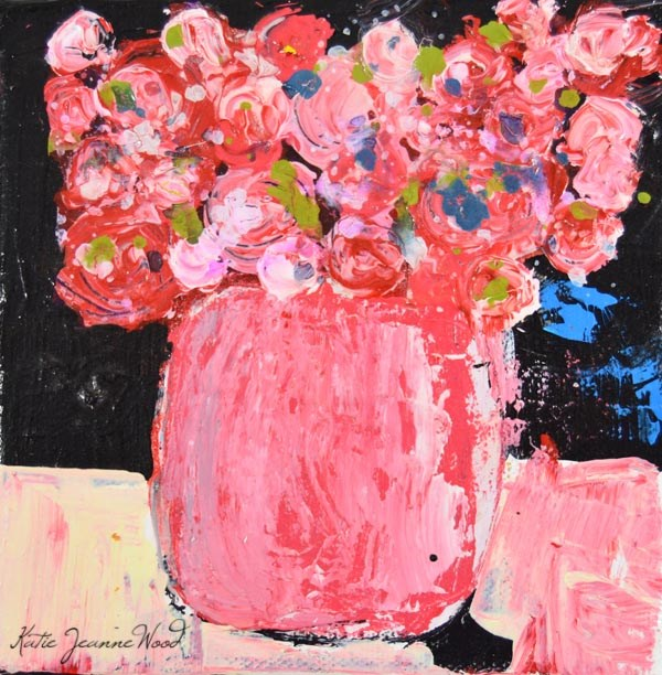 """Floral No 239"" original fine art by Katie Jeanne Wood"