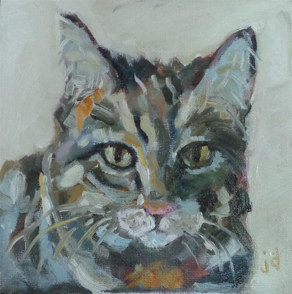 """""""Soulful kitty"""" original fine art by Jean Delaney"""