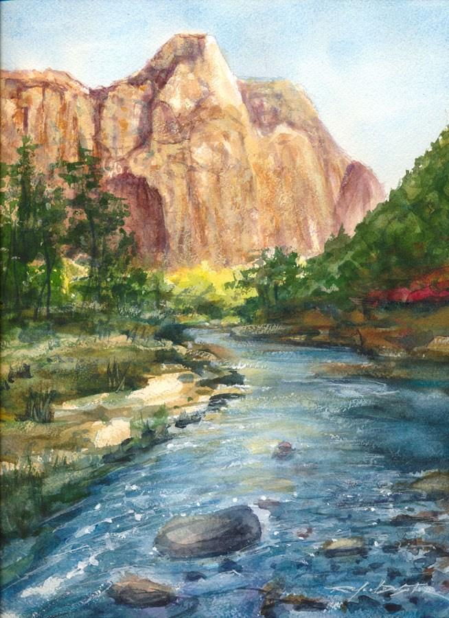 """The Virgin River"" original fine art by Rafael DeSoto Jr."