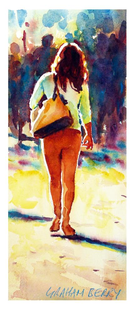 """Walking in sunshine"" original fine art by Graham Berry"