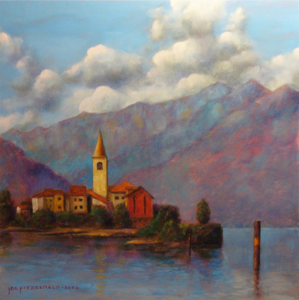 """Isola Pescatore"" original fine art by Joe Fitzgerald"