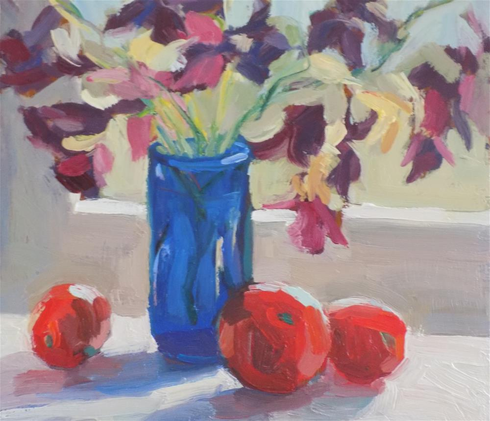 """Flowers And Tomatoes"" original fine art by Rita Brace"