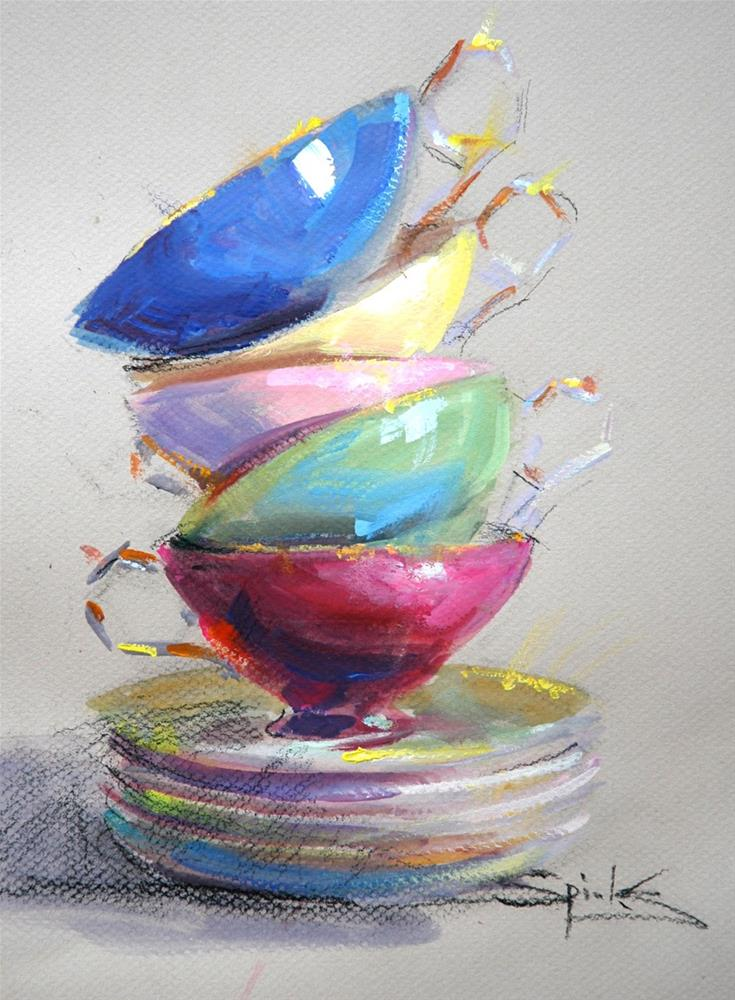 """Cup Floweth Over"" original fine art by Johanna Spinks"