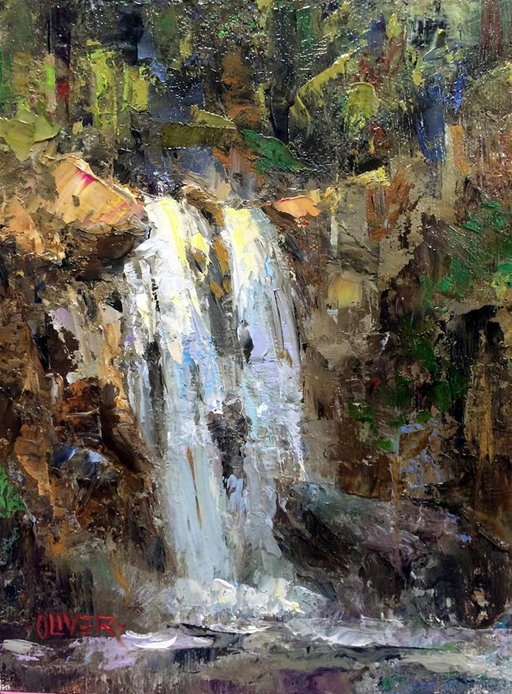 """Falling Water"" original fine art by Julie Ford Oliver"