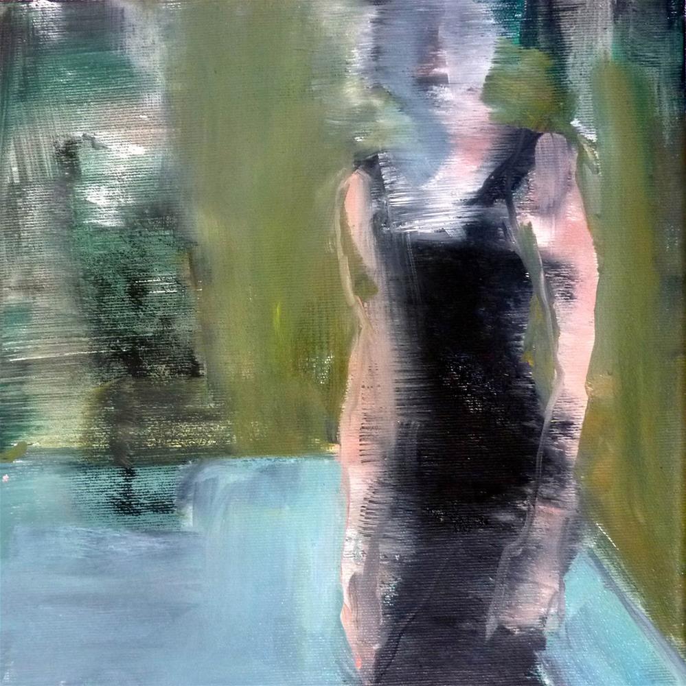 """eine Frau im Raum / a woman in space"" original fine art by Mila Plaickner"