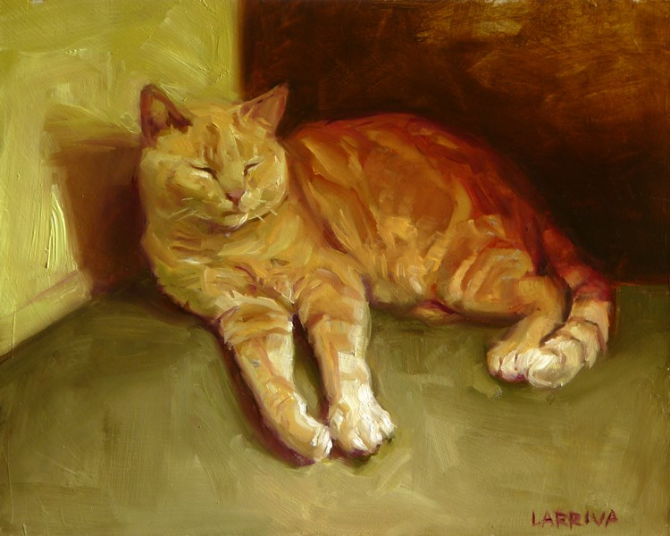 """Soft Paws"" original fine art by John Larriva"