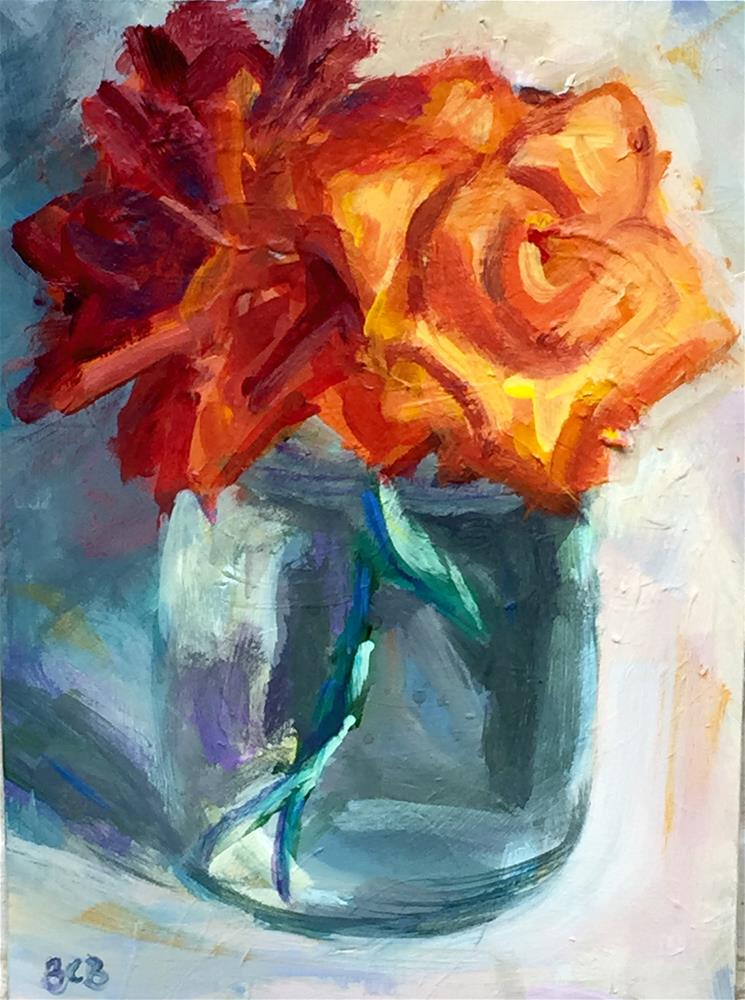 """Flowers from the yard"" original fine art by Beth Carrington Brown"