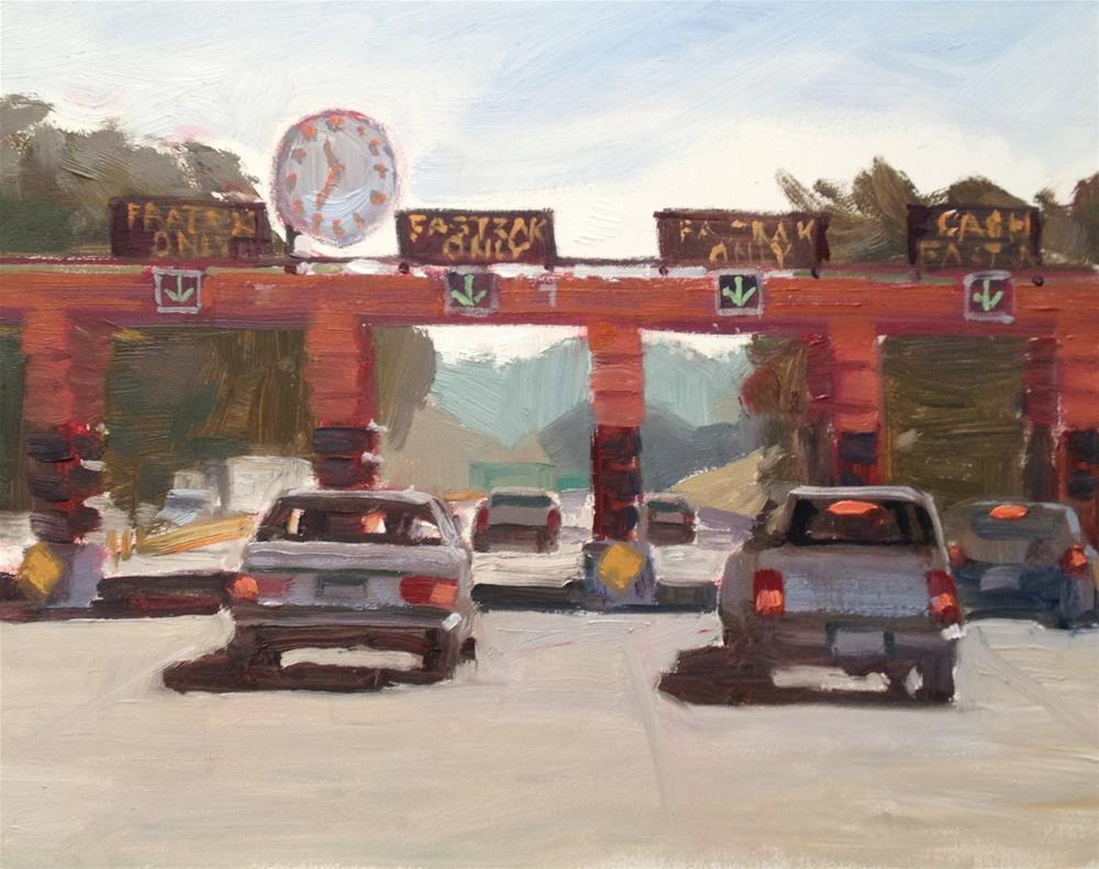 """Toll Booth"" original fine art by Deborah Newman"