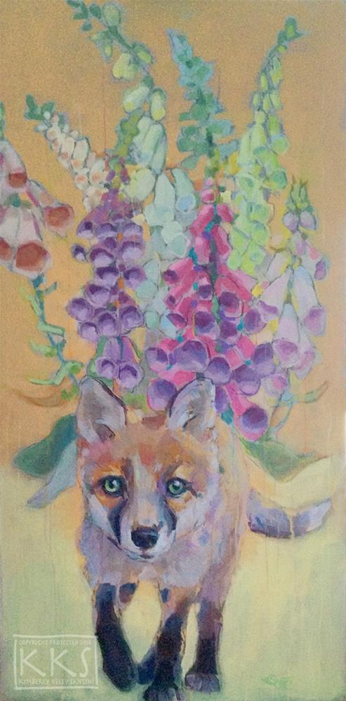 """Foxglove"" original fine art by Kimberly Santini"