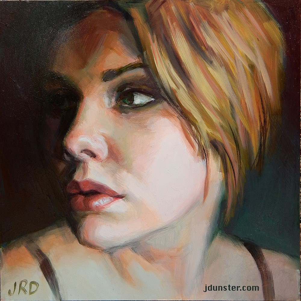 """Mehlissa"" original fine art by J. Dunster"