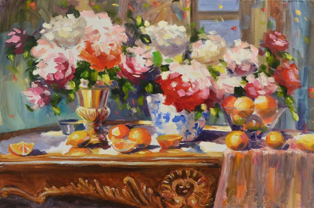 """""""ROSE IN OGGENDSON"""" original fine art by Cecilia Rosslee"""