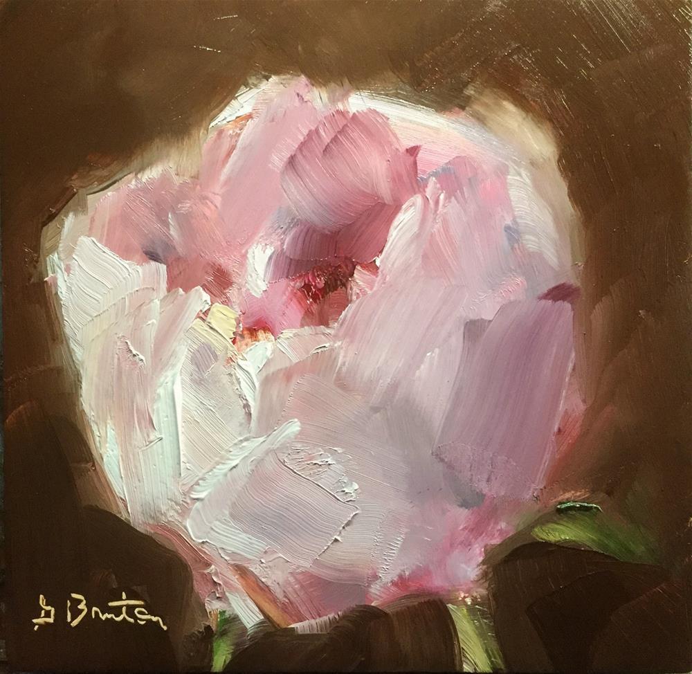 """Peony Opening"" original fine art by Gary Bruton"