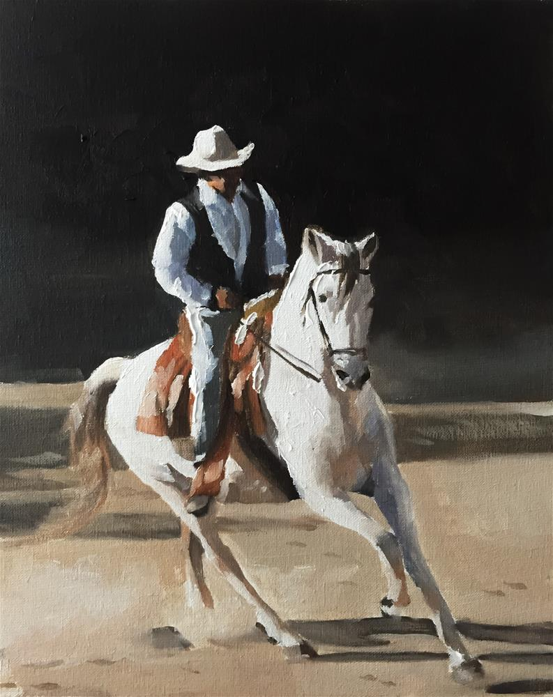 """The Rider"" original fine art by James Coates"