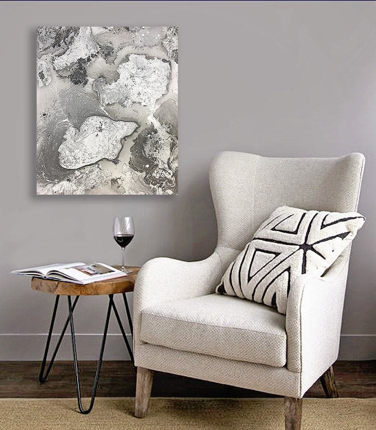 """Abstract #401"" original fine art by Sunny Avocado"