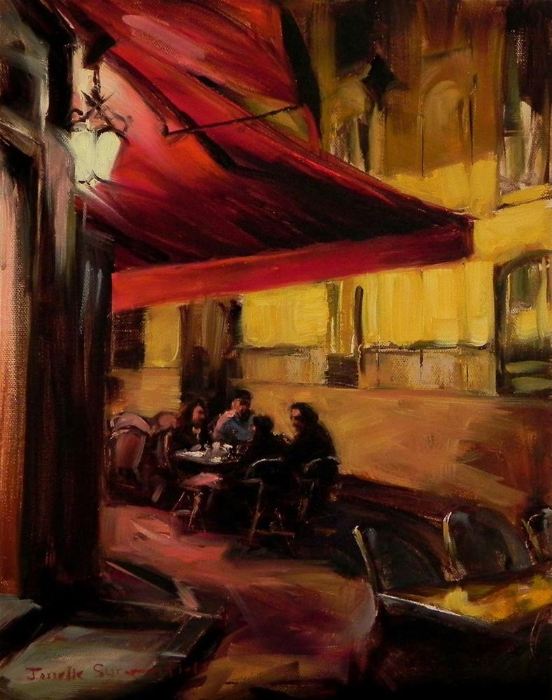 """Late Dinner in Paris II"" original fine art by Jonelle Summerfield"