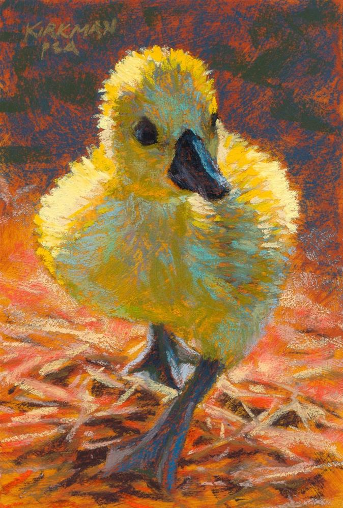"""Duckling Walking"" original fine art by Rita Kirkman"