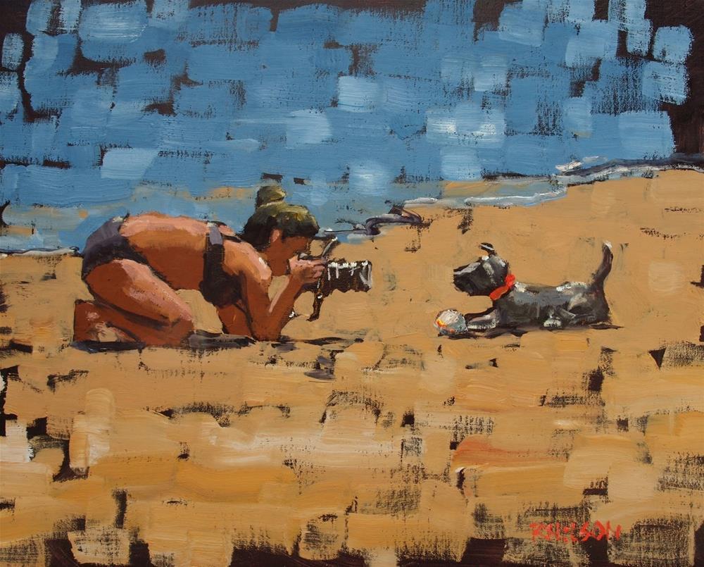 """The Money Shot"" original fine art by Rick Nilson"