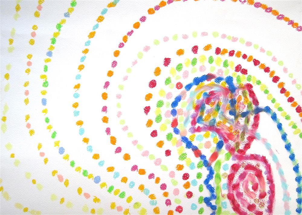 """""""Annoying Dots"""" original fine art by Adéla Svobodová"""