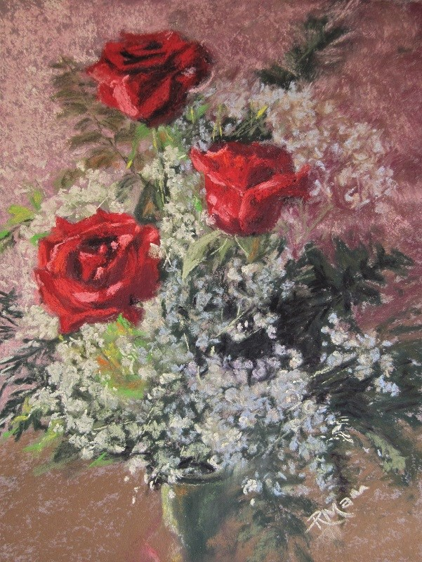 """""""Valentine Bunch"""" original fine art by Ruth Mann"""