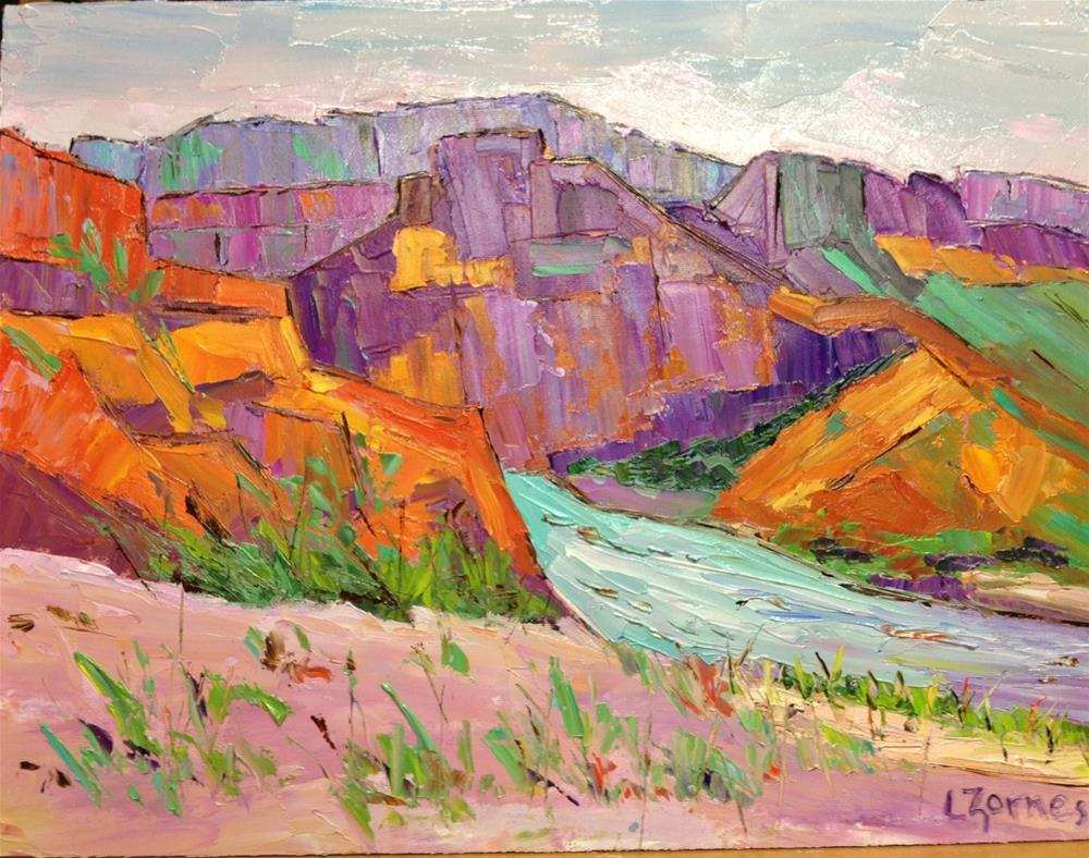 """""""Rio Grande Bend"""" original fine art by Liz Zornes"""