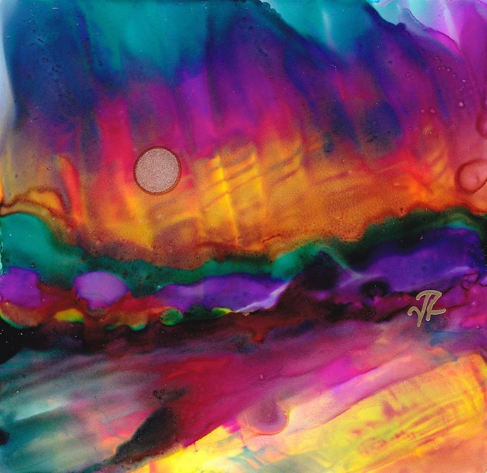 """Dreamscape No. 386"" original fine art by June Rollins"