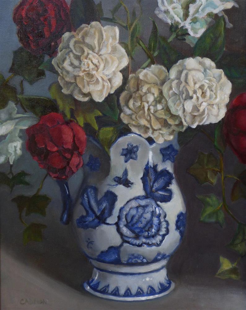 """Red, White and Blue"" original fine art by Christine Angelotta Dixon"