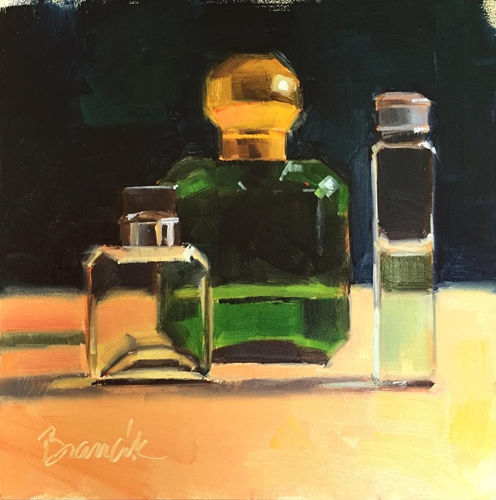 """Cologne Bottles 2"" original fine art by Candace Brancik"