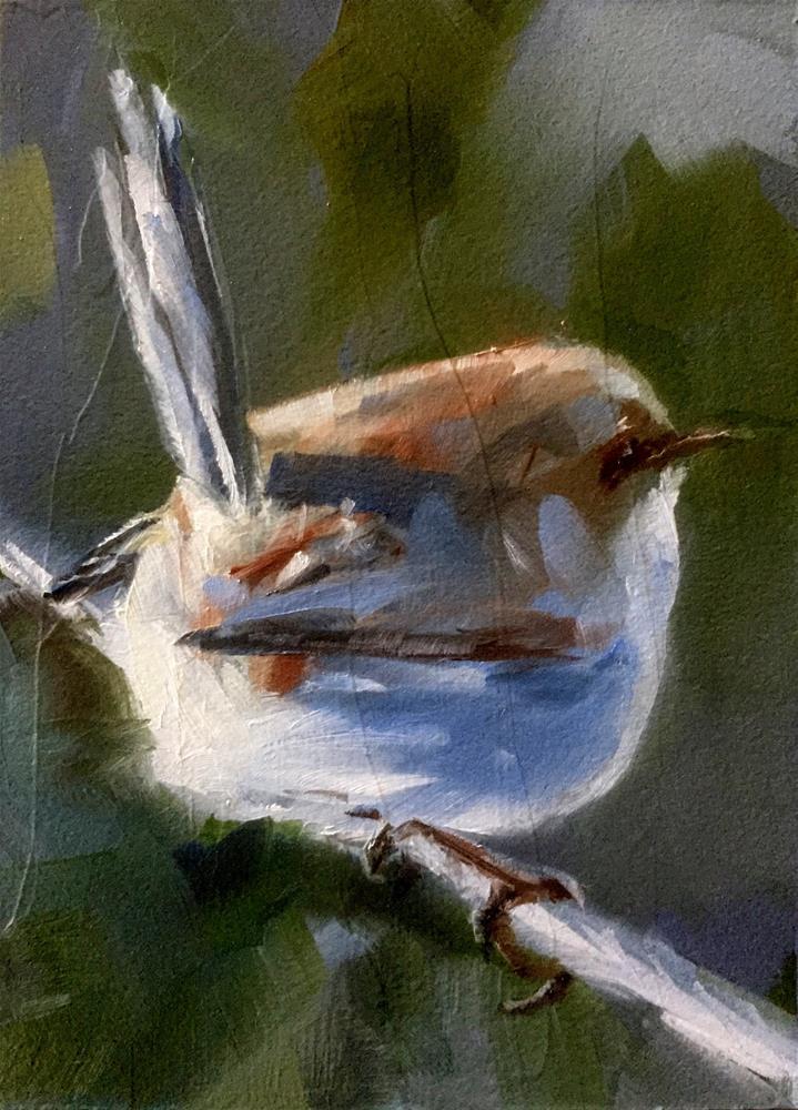 """""""Bird On A Wire"""" original fine art by Gary Bruton"""