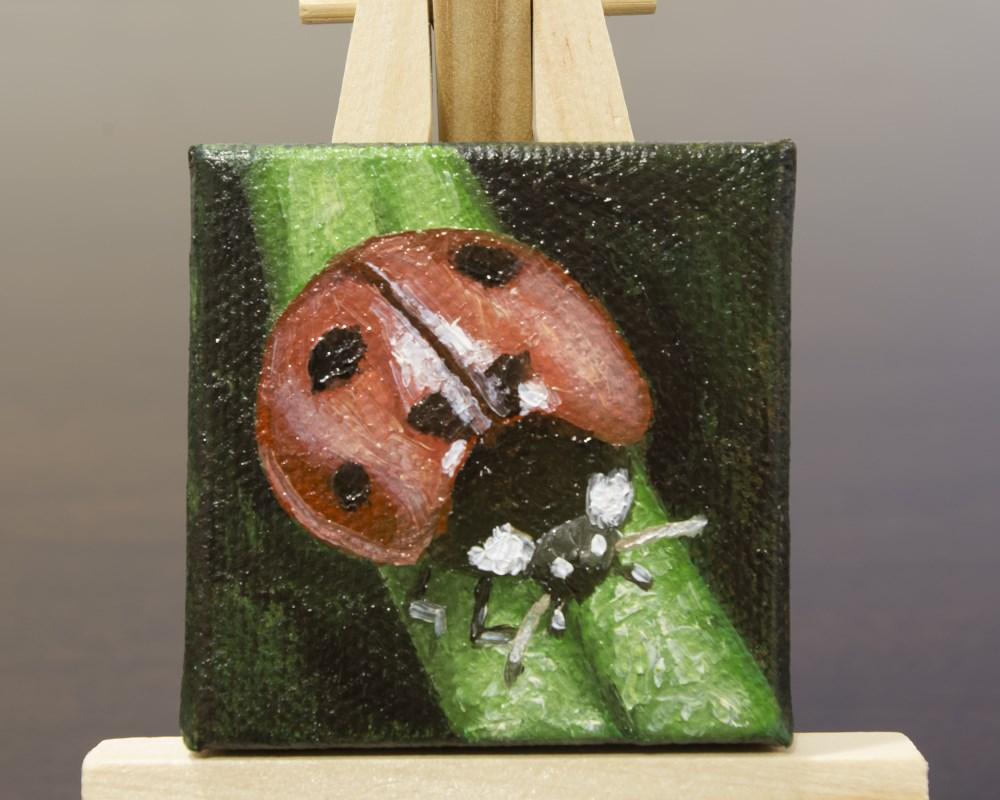 """Lucky Ladybug"" original fine art by Heather Orlando"