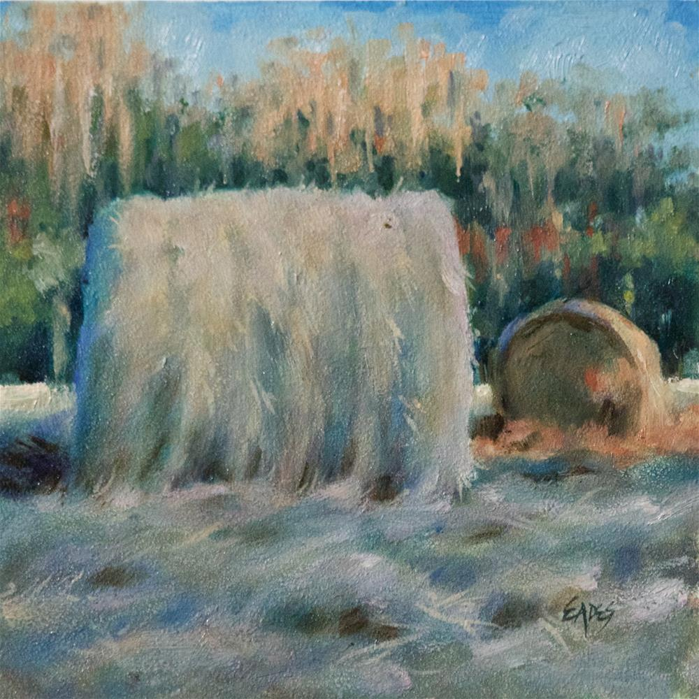 """""""Afternoon Hay"""" original fine art by Linda Eades Blackburn"""