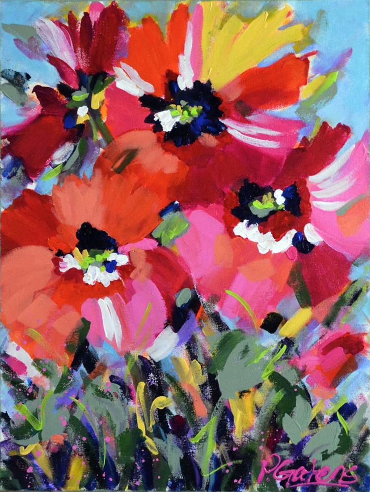 """Wild Poppy Garden"" original fine art by Pamela Gatens"