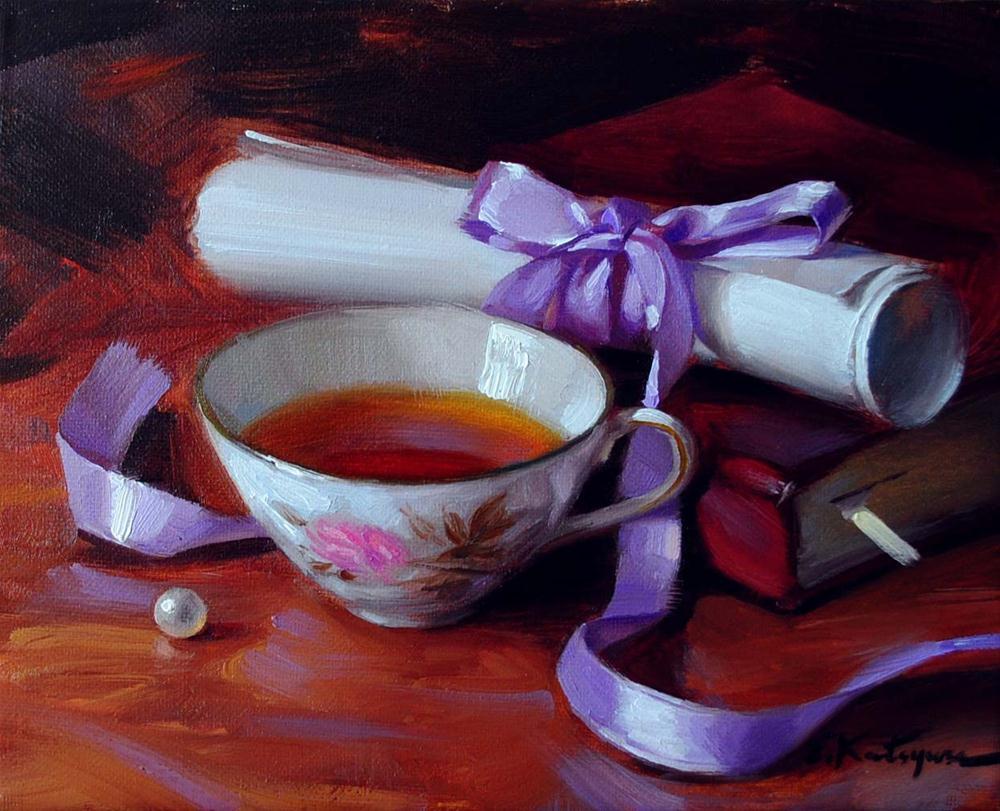 """A Message from the Past"" original fine art by Elena Katsyura"