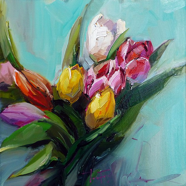 """Die Tulpen"" original fine art by Jurij Frey"