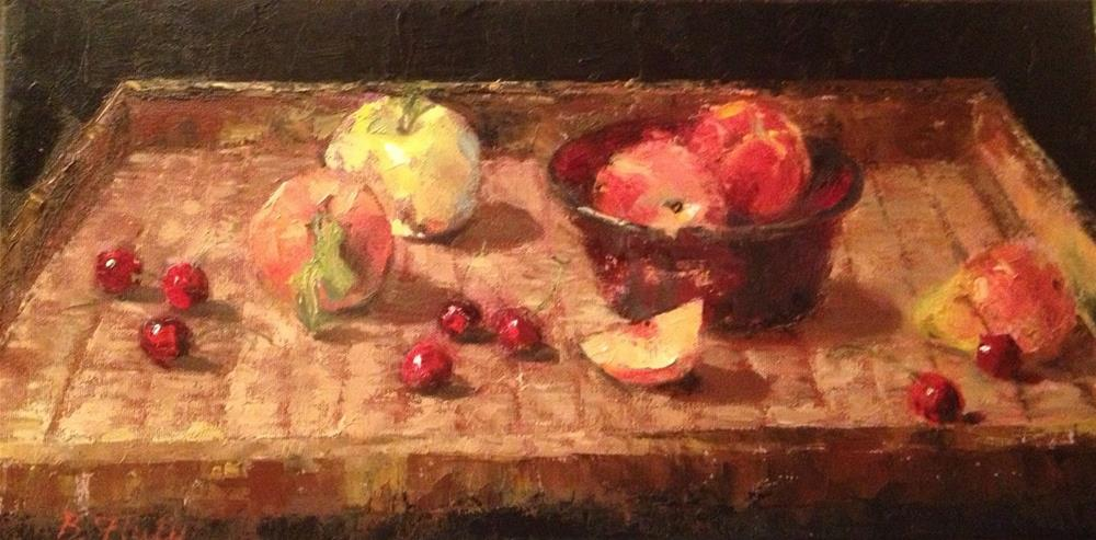 """Future Fruit Salad"" original fine art by Barbara Fluty"
